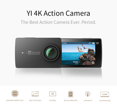 YI 4K Action Camera with 2.19