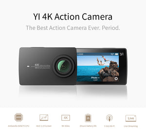 "YI 4K Action Camera with 2.19"" LCD Touch Screen"