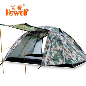 Hewolf Double-Layer Camo Camping Tent