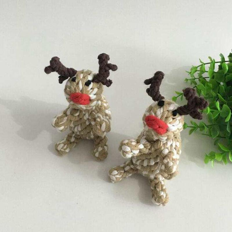 Pet Puppy Chew Toys Reindeer Braided Chew for teeth