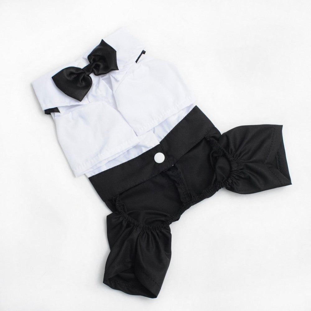 Suit & Bow Tie Jumpsuit