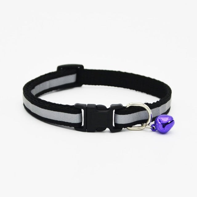 Reflective Safety Buckle Collar With Bell