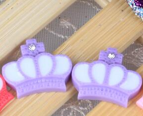 Resin Crown Clip Dog Bows