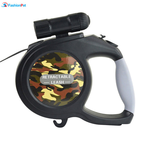 Retractable LED Leash and Flashlight
