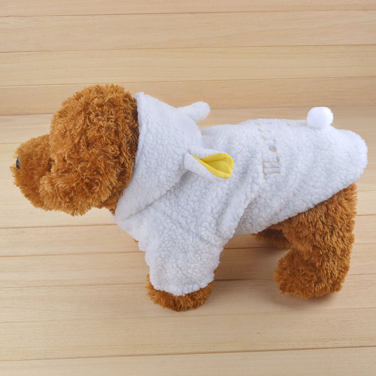 Dog Clothes Coat White Sheep