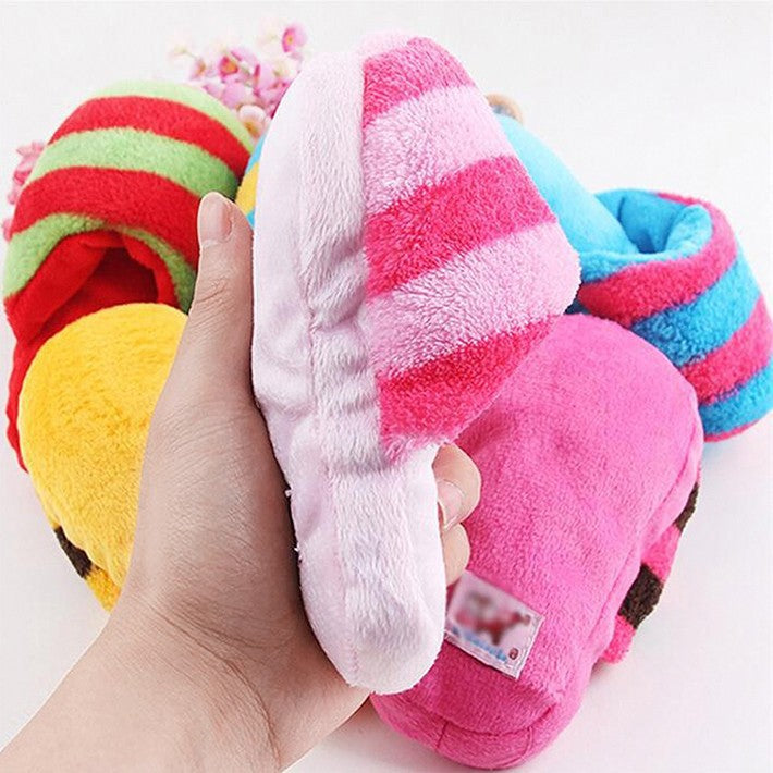 Slipper Shape Squeaky Toy