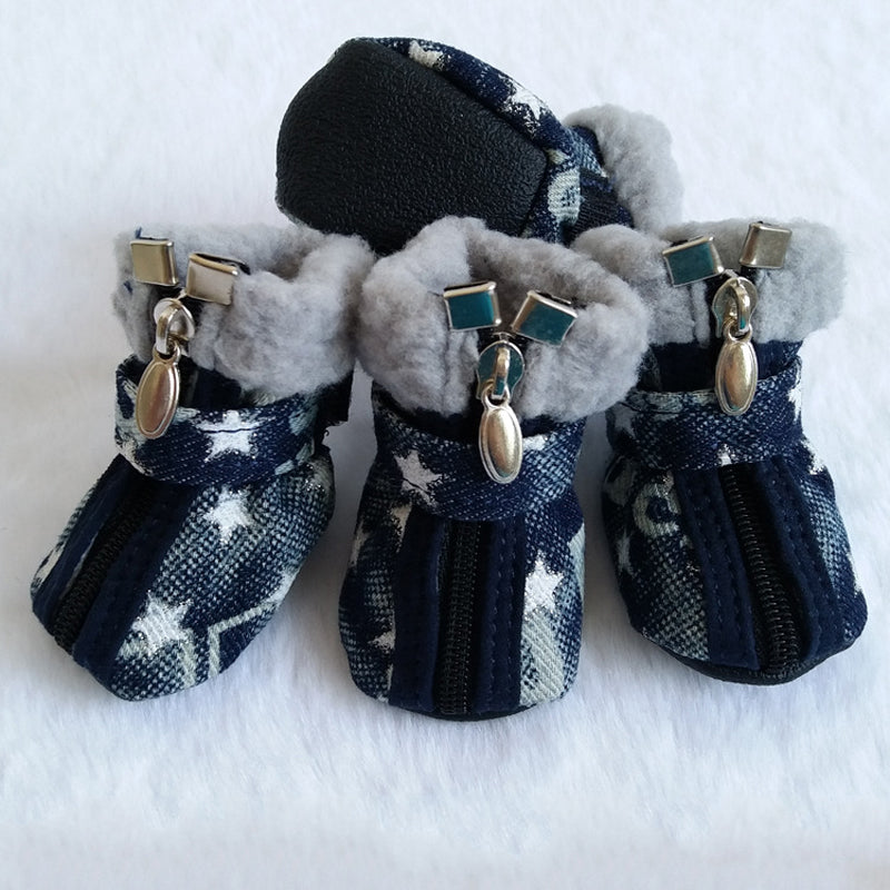 Denim Snow Boots
