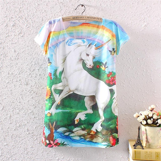 Great Bargain 3D T Shirt Women Hot Style  Cute animals (one size)