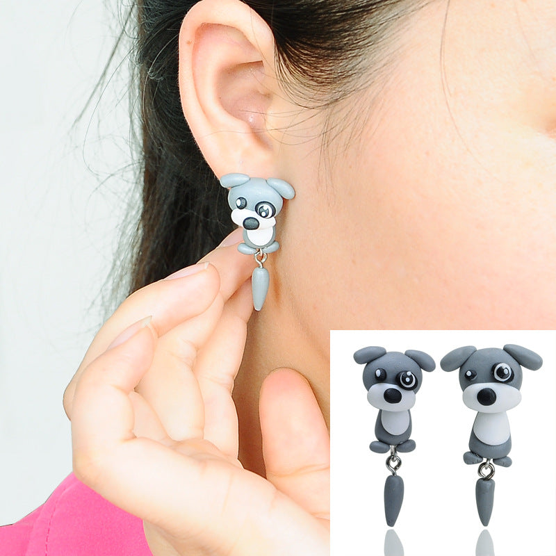 Cute Schnauzer Dog Earrings