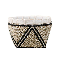 TRINKET BASKET {Small, Beaded}