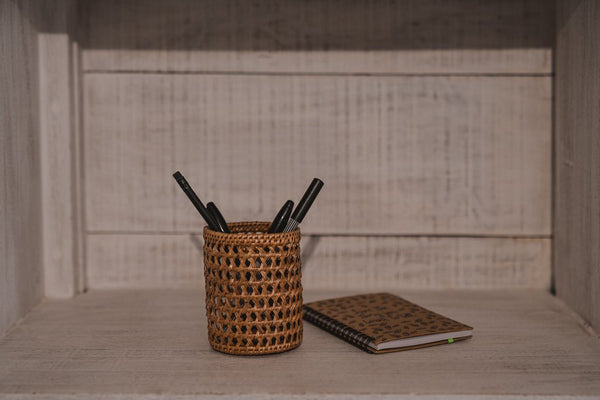 CANE PENCIL HOLDER / DESK ORGANIZER