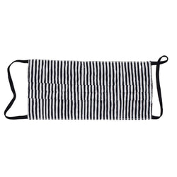 Face Mask - Black/White Stripe