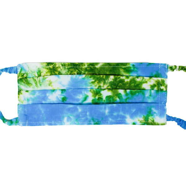Face Mask - Green/Blue Tie Dye