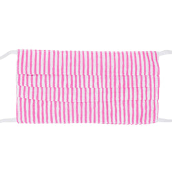 Face Mask - Pink Cabana Stripe