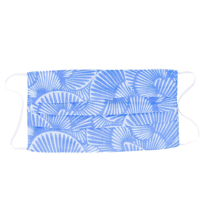 Face Mask - Seashell Summer in Belize Blue