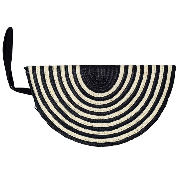 HALFMOON CLUTCH - Black Stripe
