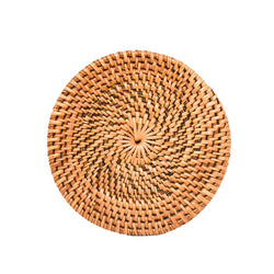 HONEY RATTAN COASTER SET (Set of 6)