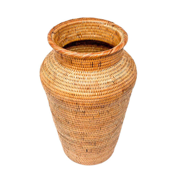 HONEY RATTAN DECOR VASE