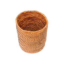 HONEY RATTAN PENCIL HOLDER / DESK ORGANIZER