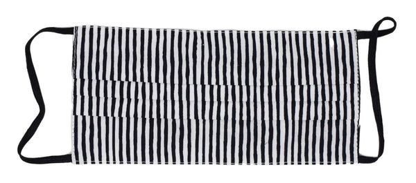 Kids Face Mask - Black/White Stripe