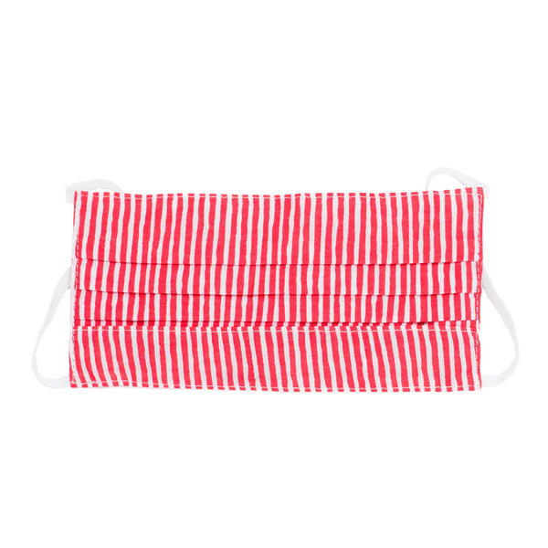 Kids Face Mask - Red & White Stripe