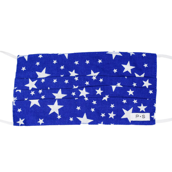 Kids Face Mask - Royal Blue Stars