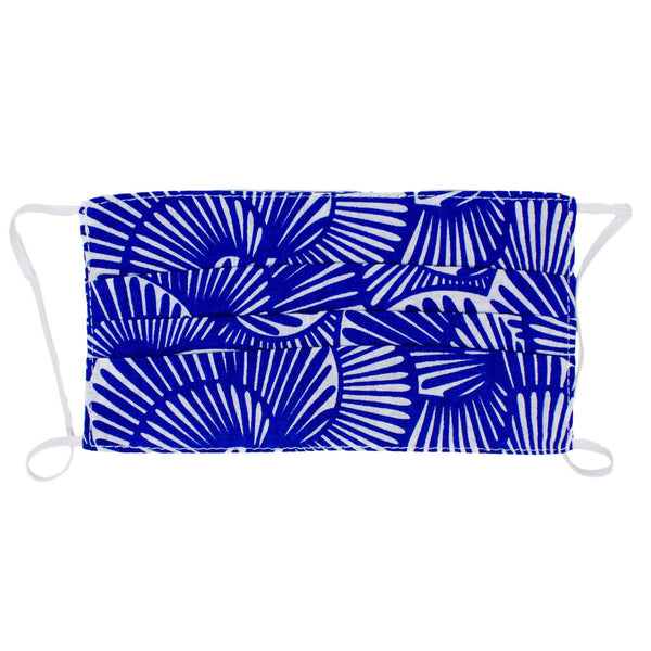 Kids Face Mask - Seashell Summer in Atlantic Blue