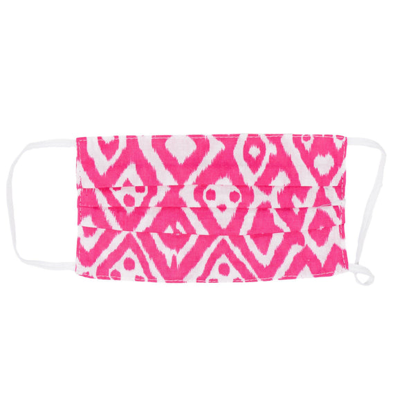 Kids Face Mask - Watermelon Pink Ikat *(PRE-ORDER - WILL SHIP BY 8/5)*