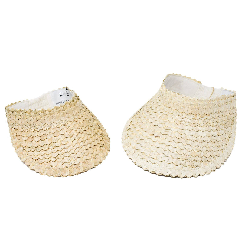 KIDS STRAW SUN VISOR - NATURAL