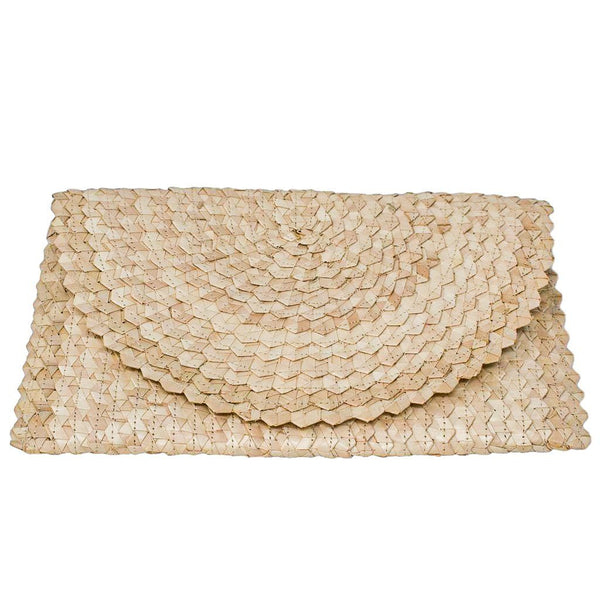 LIZZIE GRASS CLUTCH - Light Natural