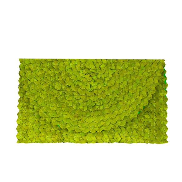 LIZZIE GRASS CLUTCH - LIME GREEN