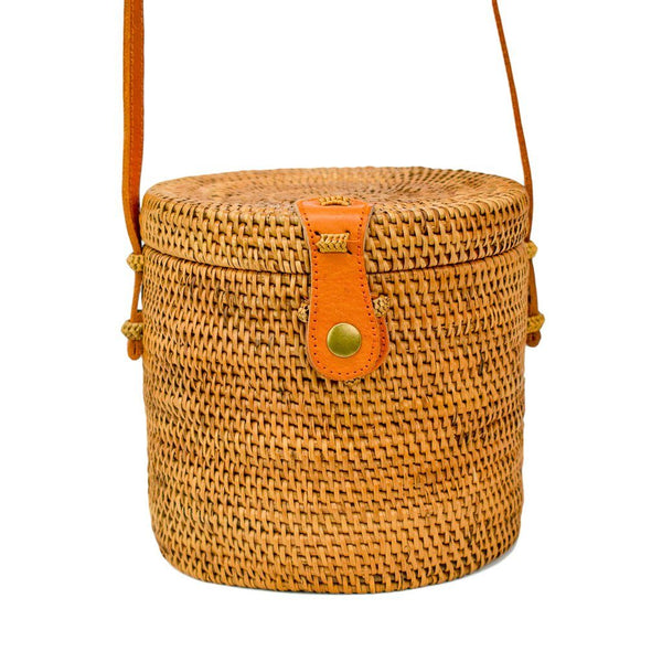 LOTTIE BAG - Straw Rattan Shoulder Bag