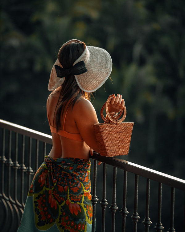 LUCY PALM SUN HAT (Adjustable)