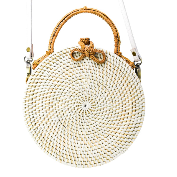 MILLY BAG {White & Tan}