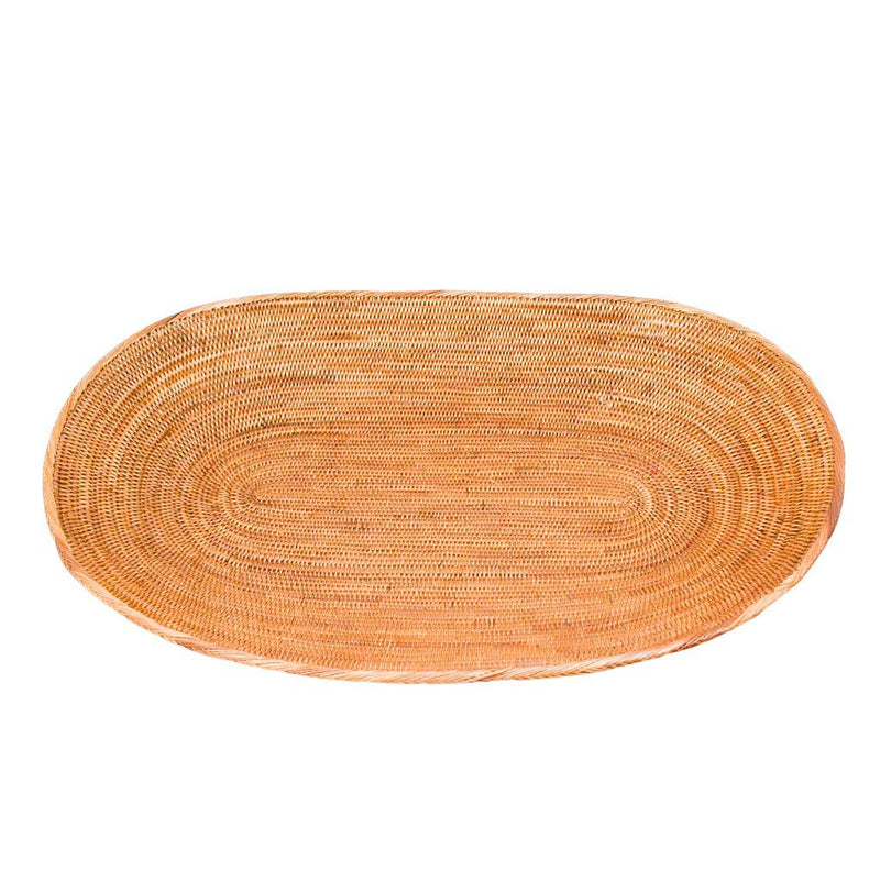 OVAL RATTAN TRAY - LARGE