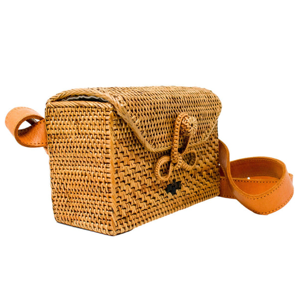 Paige Rattan Belt Bag