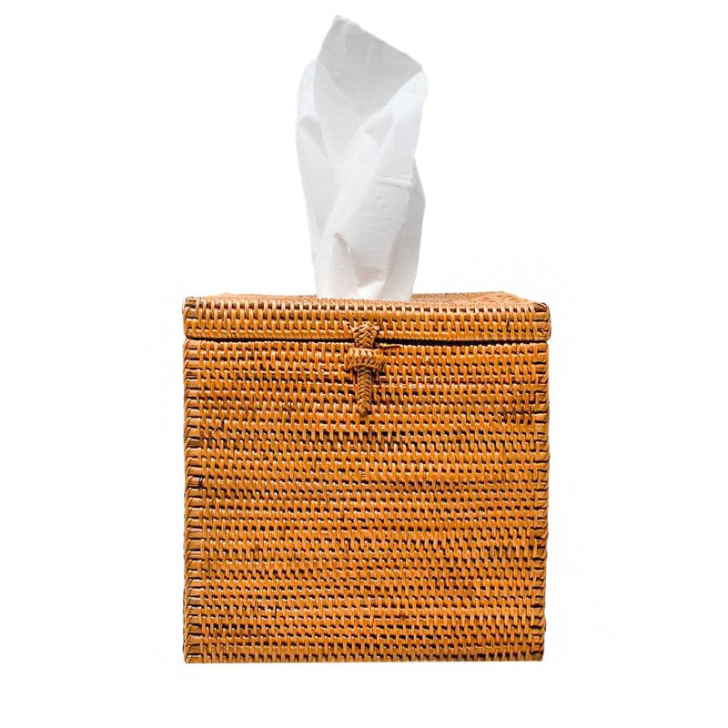 HONEY RATTAN TISSUE BOX