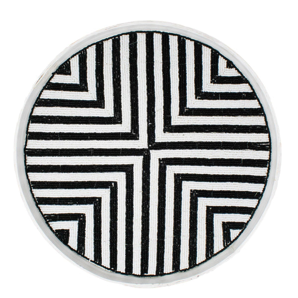 Riviera Tray Set (of 3) - Black/White