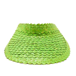 STRAW SUN VISOR - Green