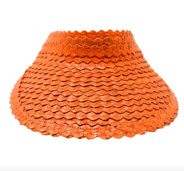 STRAW SUN VISOR - Orange
