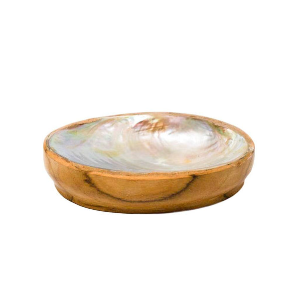 TEAK SHELL SOAP DISH - REGULAR SIZE