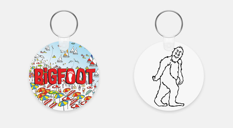 BigFoot Beach Keychain