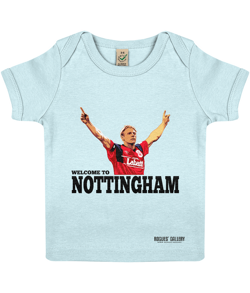 Stuart Pearce Psycho Nottingham Forest Welcome to Nottingham Baby Grow