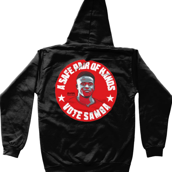 Brice Samba Nottingham Forest keeper black kids hoodie vote #GetBehindTheLads