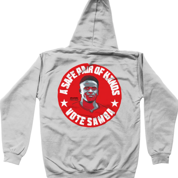 Brice Samba NFFC goalkeeper grey kids hoodie vote #GetBehindTheLads