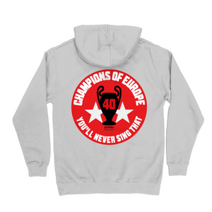 Champions of Europe Nottingham Forest grey hoodie NFFC