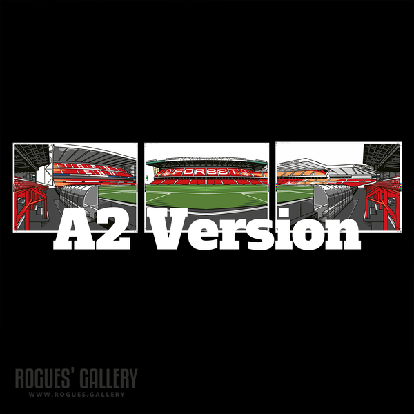 The City Ground Triptych A2 version Rogues Gallery