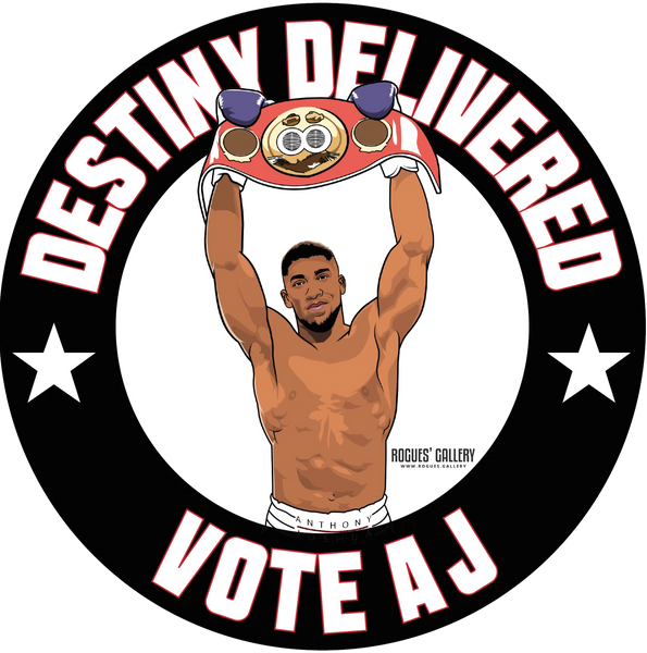 Anthony Joshua Heavyweight World Champion Champ beer mats Vote AJ