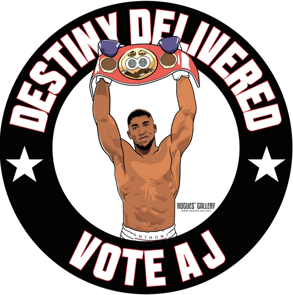 Anthony Joshua Heavyweight World Champion Champ stickers Vote AJ