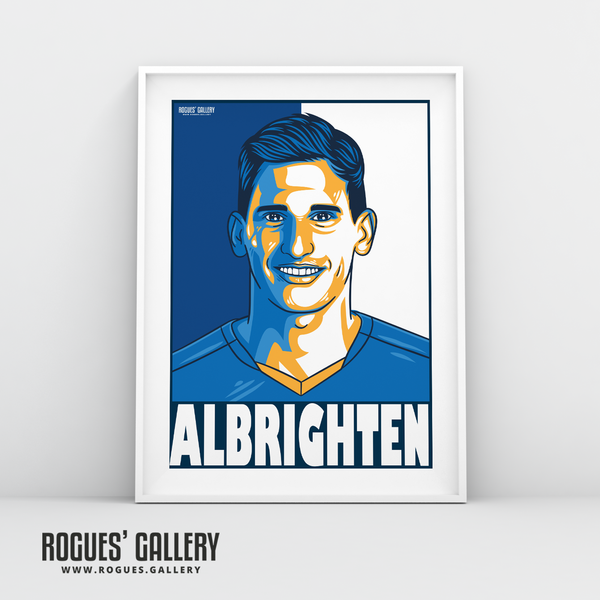 Marc Albrighton Winger Leicester City LCFC Foxes Premier League Champions A3 Print
